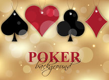 Poker wallpaper with card symbols Royalty Free Stock Image