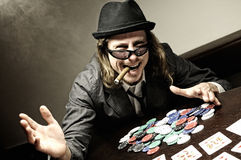 Poker winner Stock Photo