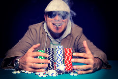Poker winner Stock Photography