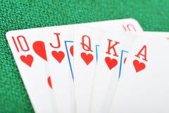 Poker winning Royalty Free Stock Image