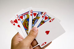 Poker winning hand set Stock Image