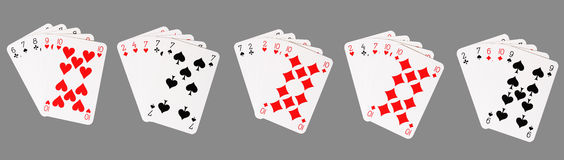 Poker winning hands Stock Images