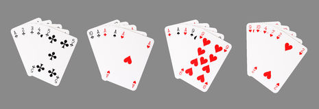 Poker winning hands Royalty Free Stock Photos
