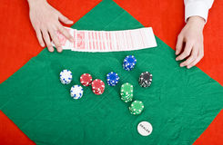 Poker wipe out Royalty Free Stock Image