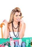 Poker woman 2 Stock Photography