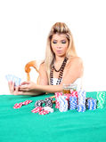 Poker woman 3 Royalty Free Stock Photos
