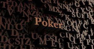 Poker - Wooden 3D rendered letters/message Royalty Free Stock Photo