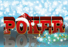 Poker xmas banner Stock Photography