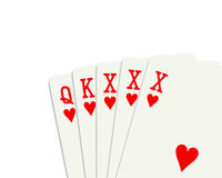 Poker XXX words Stock Images