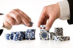 Poker zur Zukunft von Griechenland Lizenzfreies Stockfoto