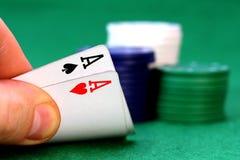 pokera. Zdjęcia Stock
