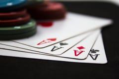 Pokerabend Lizenzfreie Stockbilder