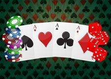 Pokerasse stock abbildung