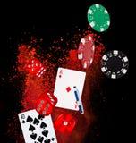 Pokerbakgrund Royaltyfri Foto