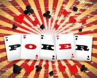 Pokerbakgrund Arkivfoto