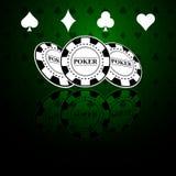 Pokerbakgrund med modiga beståndsdelar vektor illustrationer