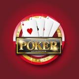 Pokerbaner royaltyfri illustrationer