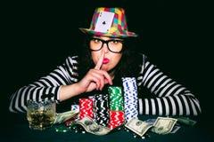Pokerbetrüger Stockfoto