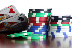 Pokerchip-Karten Stockfoto
