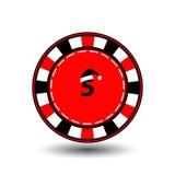 Pokerchip-Weihnachtsneues Jahr Illustration der Ikone ENV 10 auf einem weißen Hintergrund, zum sich leicht zu trennen Gebrauch fü Lizenzfreies Stockfoto