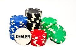 Pokerchiper royaltyfri foto