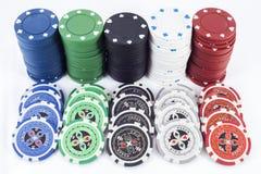 Pokerchiper Arkivbilder
