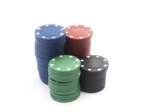 Pokerchiper Fotografering för Bildbyråer