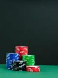 Pokerchiper Arkivfoto