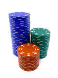 pokerchips Royaltyfri Foto