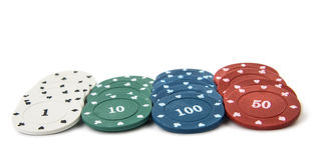 Pokerchips lizenzfreie stockfotografie