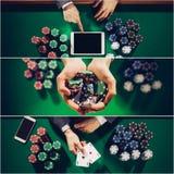 Pokercollage Royaltyfria Foton
