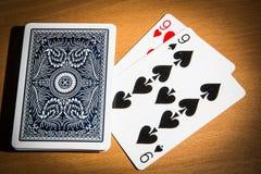 Pokerdubblett Arkivfoton