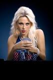 Pokerflicka Royaltyfria Foton