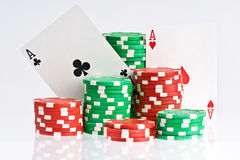 Pokergame Royalty Free Stock Image