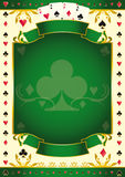 Pokergame green club background Stock Photography