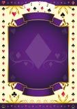 Pokergame lilabakgrund Royaltyfri Bild