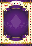 Pokergame purple background Royalty Free Stock Image