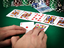 Pokergata Royaltyfri Fotografi
