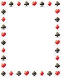 Pokergrenzrahmen Stockfotos