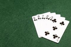 Pokerhänder - rak spolning Fotografering för Bildbyråer