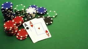 Pokerhand Lizenzfreie Stockfotos