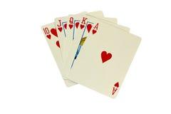 Pokerhand för kunglig spolning Royaltyfri Bild