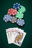 Pokerhand vier einer Art Lizenzfreies Stockbild