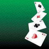 Pokerhintergrund Lizenzfreies Stockfoto