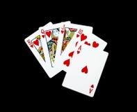 Pokerkarten, königlicher Blitz Lizenzfreie Stockfotografie