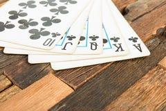 Pokerkarten, königlicher Blitz Stockbilder