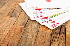 Pokerkarten, königlicher Blitz Stockfotos
