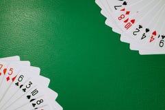 Pokerkarten-Kopienraum stockfotografie