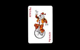 Pokerkarten, Spassvögel Stockbild