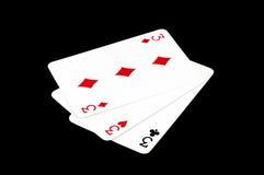 Pokerkarten, Spassvögel Lizenzfreie Stockbilder